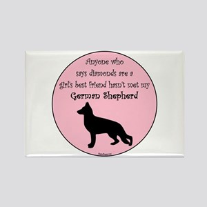 Girls Best Friend - GSD Rectangle Magnet