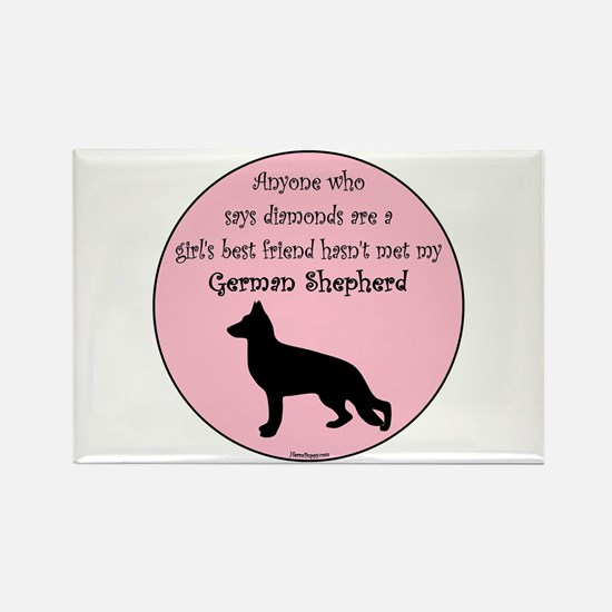 Girls Best Friend - GSD Rectangle Magnet
