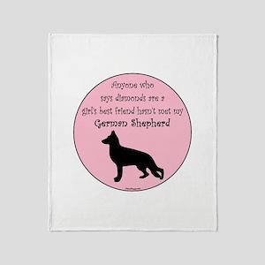 Girls Best Friend - GSD Throw Blanket