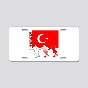 Turkey Soccer Aluminum License Plate