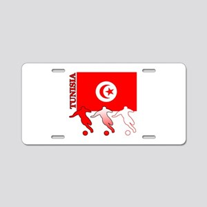 Tunisia Soccer Aluminum License Plate