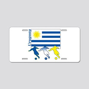 Uruguay Soccer Aluminum License Plate