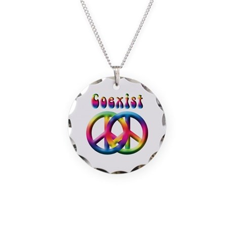 Coexist peace sign necklace by expressyoursoul coexist peace sign necklace aloadofball Images
