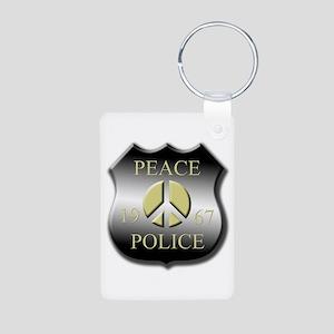 Peace Police Aluminum Photo Keychain