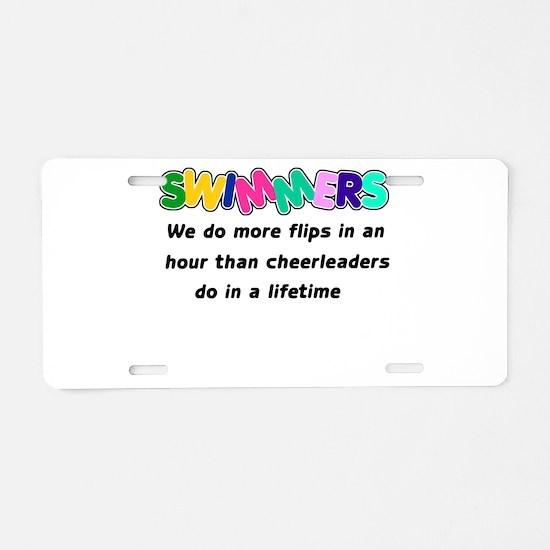 Swimmers & Cheerleaders Aluminum License Plate