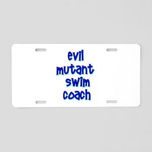 Evil Mutant Swim Coach Aluminum License Plate