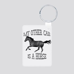 My Other Car Is A Horse Aluminum Photo Keychain
