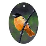 Baltimore Oriole Oval Ornament