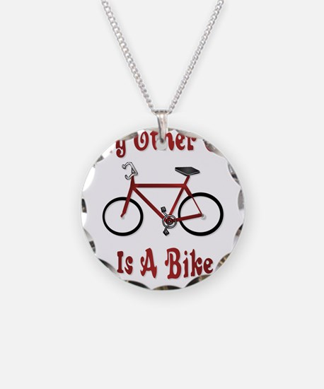 My Other Car Is A Bike Necklace