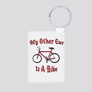 My Other Car Is A Bike Aluminum Photo Keychain