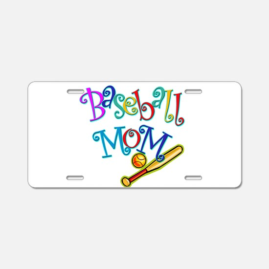 Baseball Mom Aluminum License Plate
