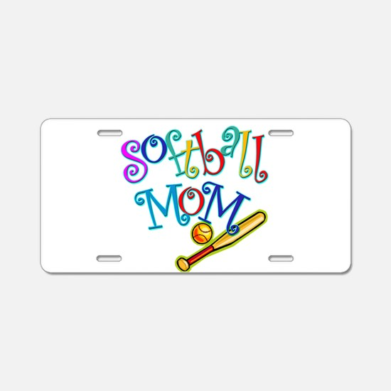 Softball Mom II Aluminum License Plate