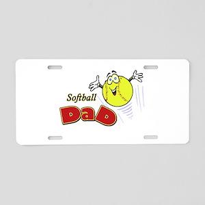 Softball Dad Aluminum License Plate