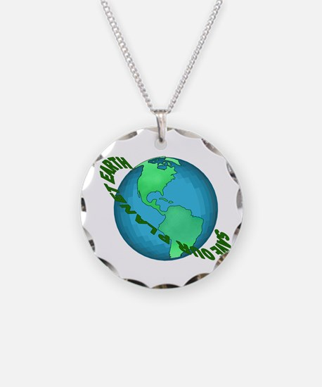 Save Our Planet Earth Necklace