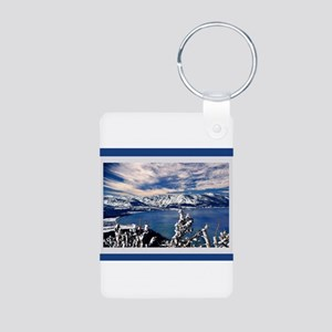 Lake Tahoe in Winter Aluminum Photo Keychain
