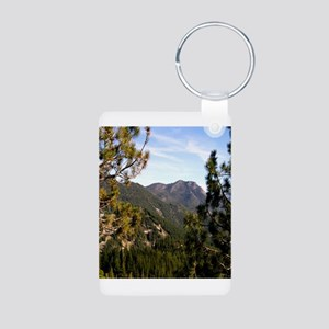 Sierra Mountain Vista Aluminum Photo Keychain