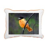 Baltimore Oriole Rectangular Canvas Pillow