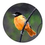 Baltimore Oriole Round Car Magnet