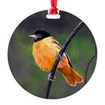 Baltimore Oriole Round Ornament