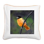 Baltimore Oriole Square Canvas Pillow