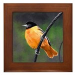Baltimore Oriole Framed Tile