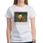 Baltimore Oriole Women's Classic White T-Shirt