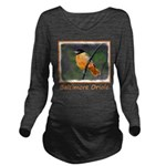 Baltimore Oriole Long Sleeve Maternity T-Shirt