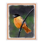 Baltimore Oriole Throw Blanket