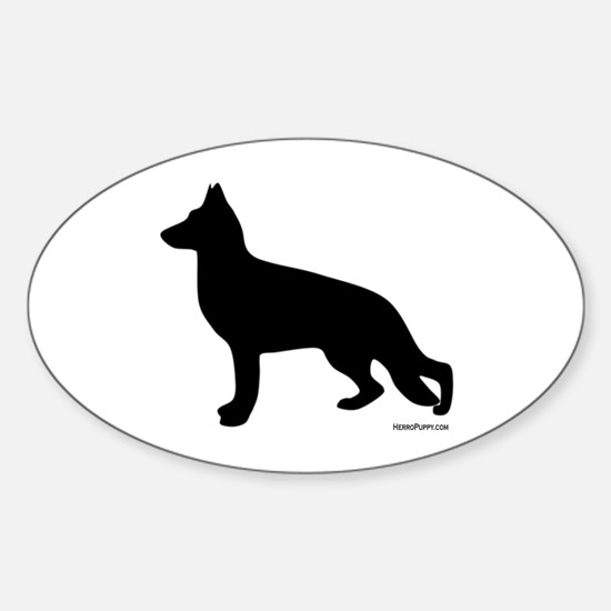 GSD Silhouette Sticker (Oval)