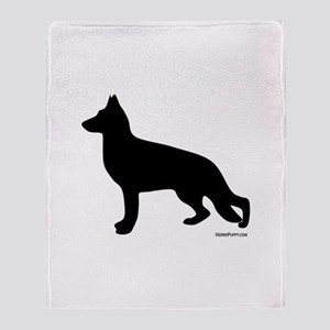 GSD Silhouette Throw Blanket