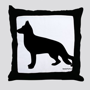 GSD Silhouette Throw Pillow
