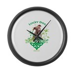 Lucky Dog Large Wall Clock