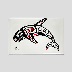 Killer Whale Rectangle Magnet