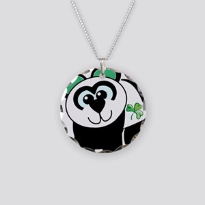 Cute St. Patty's Day Irish Pa Necklace Circle Char