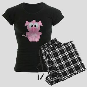 Goofkins Cute Little Piggy Women's Dark Pajamas