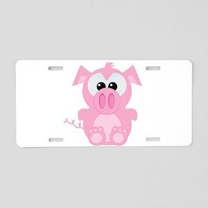 Goofkins Cute Little Piggy Aluminum License Plate