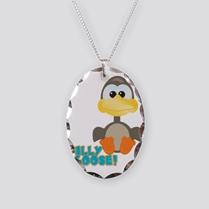 Goofkins Silly Silly Goose Necklace Oval Charm