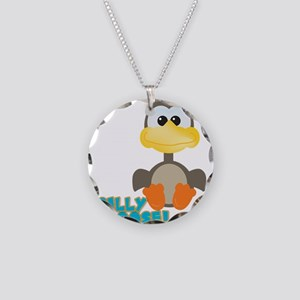 Goofkins Silly Silly Goose Necklace Circle Charm