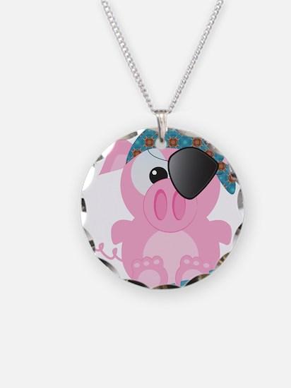 Cute Goofkins Piggy Pig Pirat Necklace