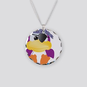 Purple Ducky Duck Pirate Necklace Circle Charm