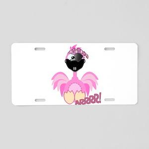 Goofkins Pink Flamingo Pirate Aluminum License Pla