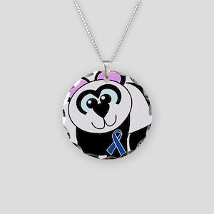 Blue Awareness Ribbon Goofkin Necklace Circle Char