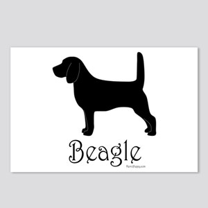 Beagle Silhouette Postcards (Package of 8)
