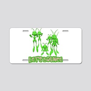 Let's Bounce Grasshoppers Aluminum License Plate