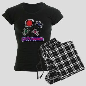 Let's Bounce Jacks (Jax) Women's Dark Pajamas