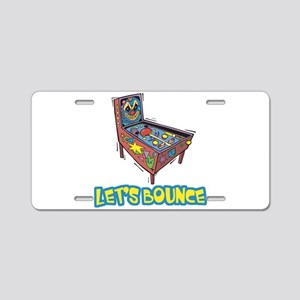 Let's Bounce Pinball Machine Aluminum License Plat