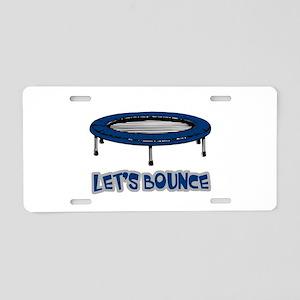 Let's Bounce Trampoline Aluminum License Plate