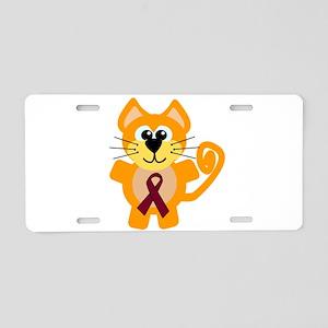 Burgundy Awareness Ribbon Kit Aluminum License Pla
