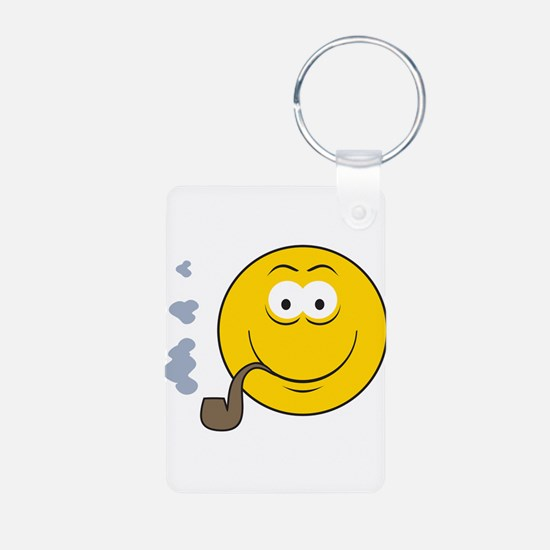 Pipe Smoking Smiley Face Keychains
