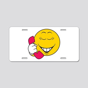 Gossip/Phone Chatter Smiley F Aluminum License Pla